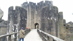 Imposing main gate towers