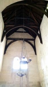 Roof beams, Saxon church