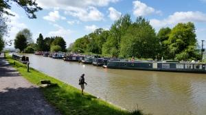 Narrow boats at Devizes