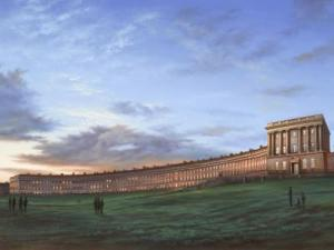 Evening Sky, the Royal Crescent