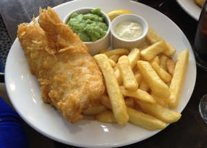 Classic Fish & Chips with Mushy Peas and Tartare Sauce
